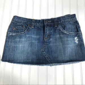 Roxy Jean Mini Skirt, Size 7